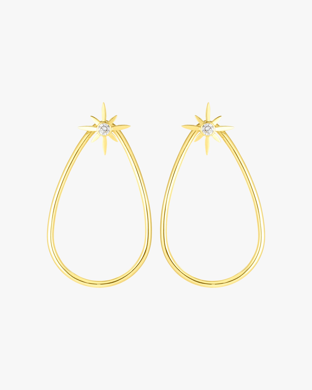 Roberto Coin Cinderella Star Teardrop Earrings 0