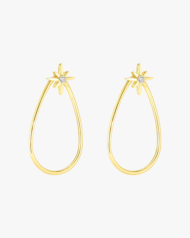 Roberto Coin Cinderella Star Teardrop Earrings 2