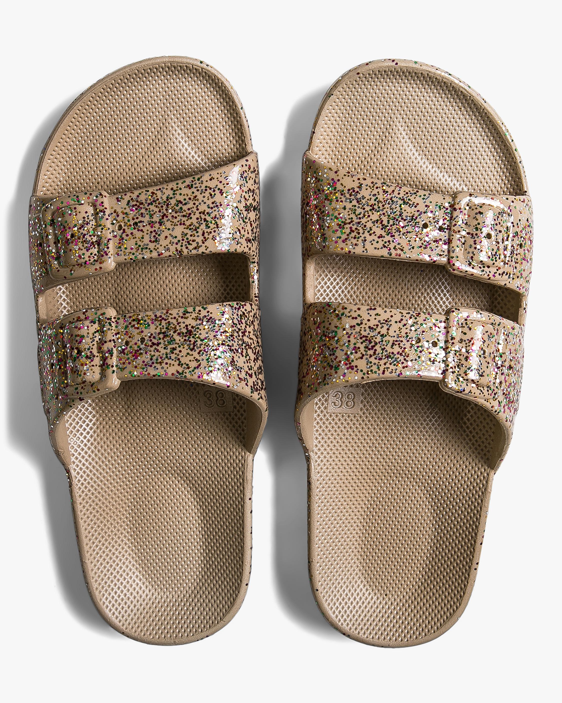 Celeste Sands Glitter Slide