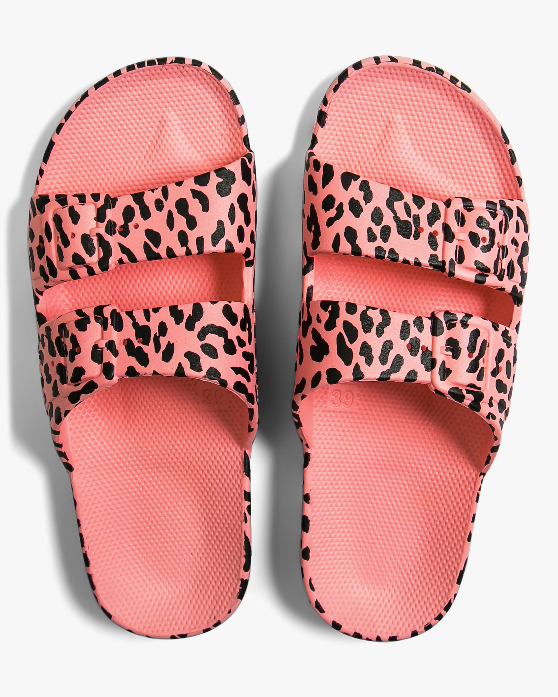 Leo Pink Leopard Slide