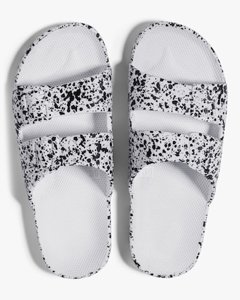 White Splatter Print Slide