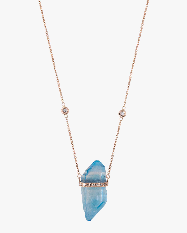 Aqua Aura Quartz Pendant Necklace