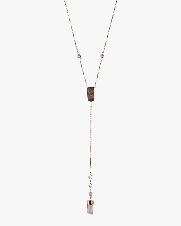 Tourmaline & Diamond Lariat Necklace