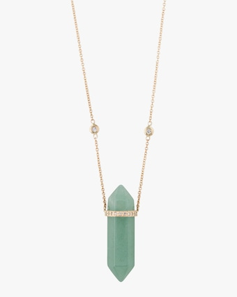 Fluorite Double-Point Pendant Necklace