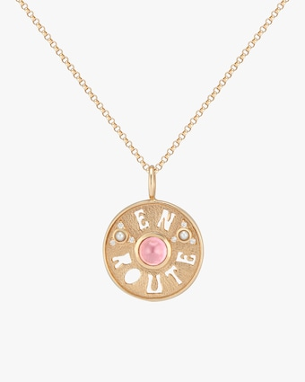 Marlo Laz En Route Coin Pendant Necklace 1