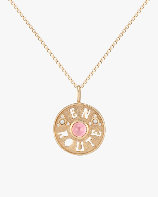 Marlo Laz En Route Coin Pendant Necklace 0