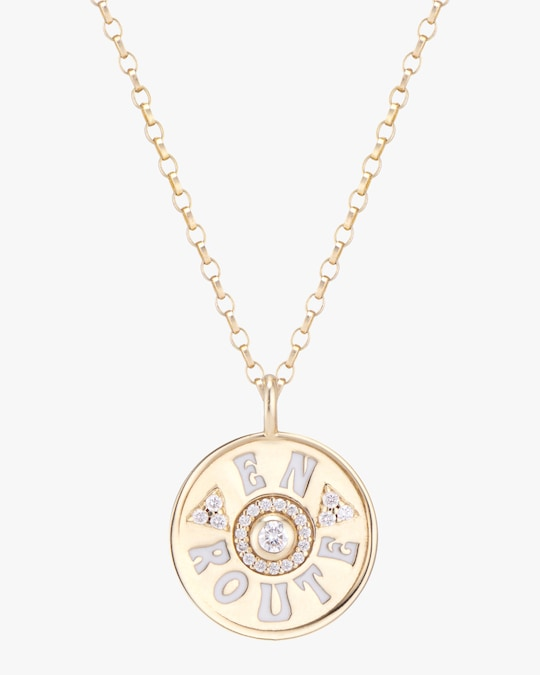 Marlo Laz Mini En Route Coin Pendant Necklace 0
