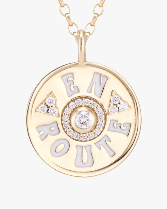 Marlo Laz Mini En Route Coin Pendant Necklace 1