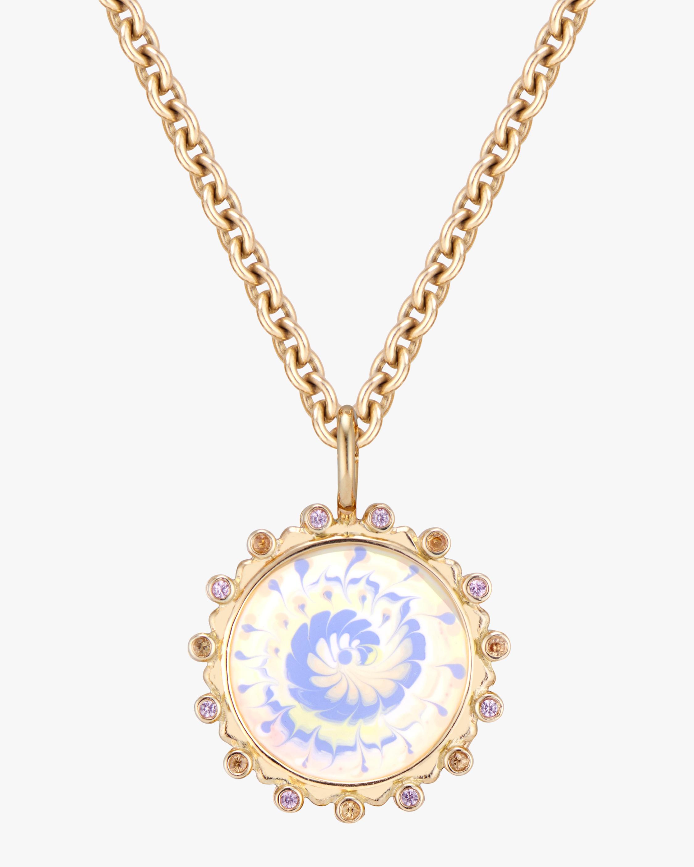 Marlo Laz Tie Dye Pendant Necklace 1