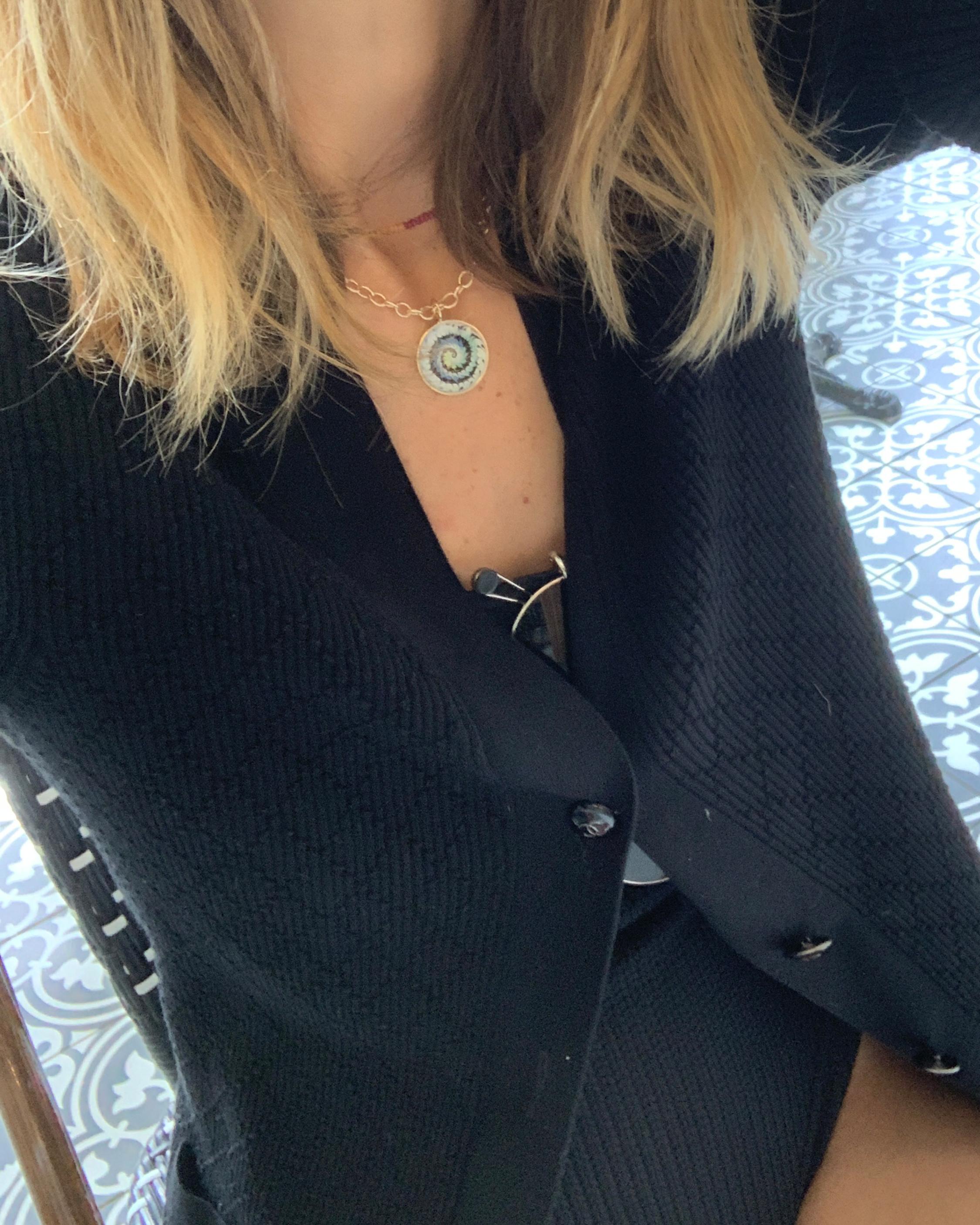 Marlo Laz Tie Dye Pendant Necklace 2