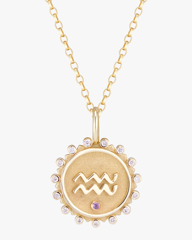 Marlo Laz Zodiac Aquarius Pendant Necklace 0