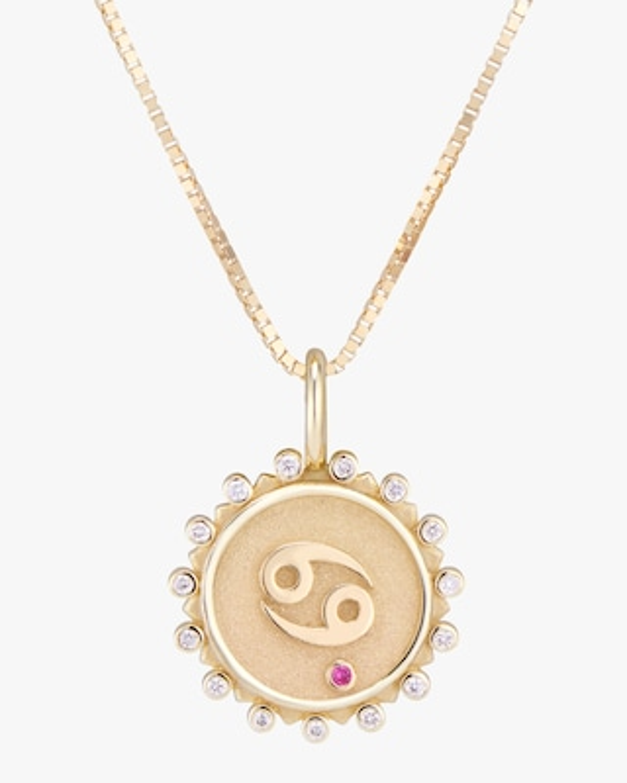 Marlo Laz Zodiac Cancer Pendant Necklace 1
