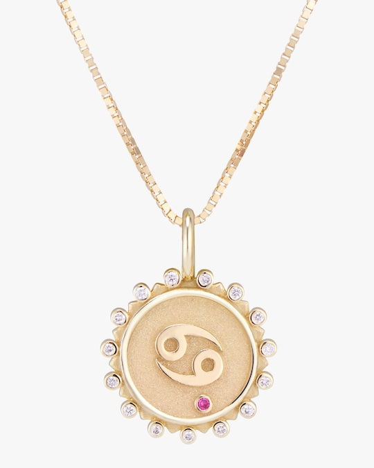 Marlo Laz Zodiac Cancer Pendant Necklace 0