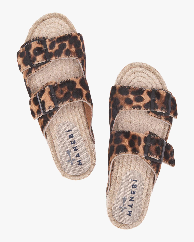 Manebi Hamptons Leopard Double-Buckle Slide 2