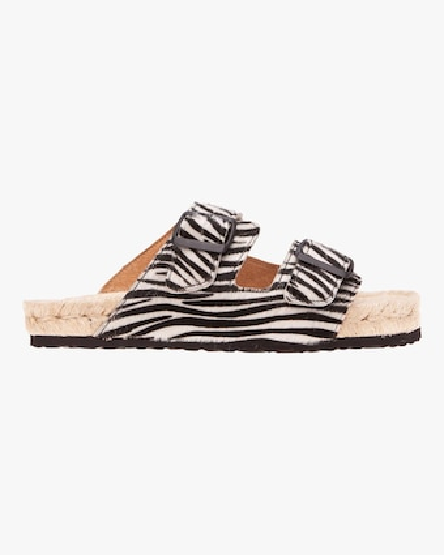 Hamptons Zebra Double-Buckle Slide