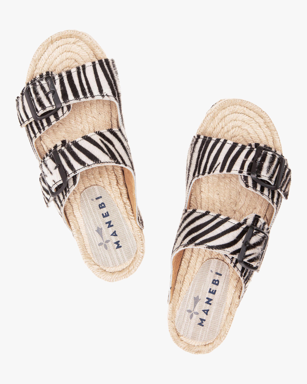 Manebi Hamptons Zebra Double-Buckle Slide 1