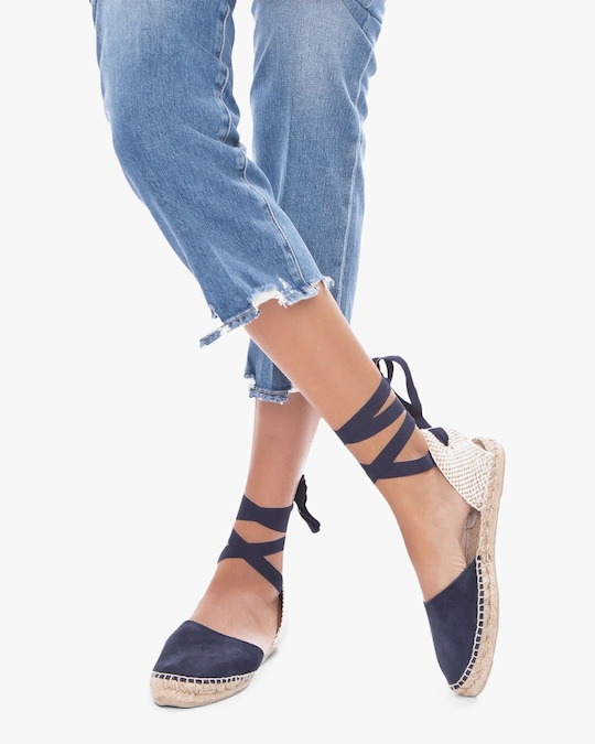 Manebi Hamptons Lace-Up Espadrille 1