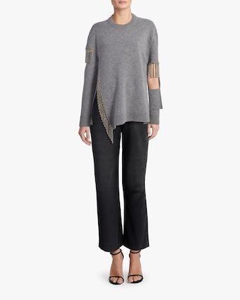 Christopher Kane Cut Out Cup Chain Sweater 2