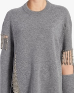 Christopher Kane Cut Out Cup Chain Sweater 3