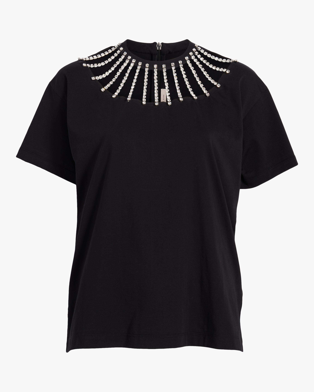 Christopher Kane Crystal Neckline T-Shirt 1