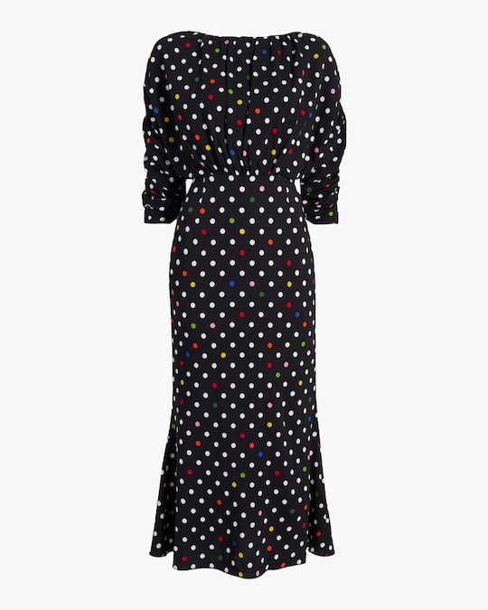 Christopher Kane Polka Dot Gathered Bell Dress 0