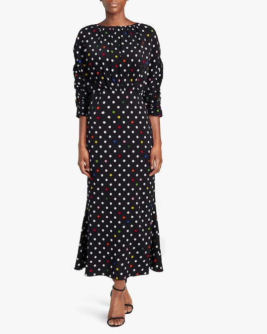 Christopher Kane Polka Dot Gathered Bell Dress 1