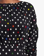 Christopher Kane Polka Dot Gathered Bell Dress 3