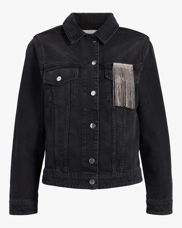 Christopher Kane Crystal Fringe Denim Jacket 1