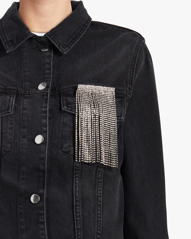 Christopher Kane Crystal Fringe Denim Jacket 3