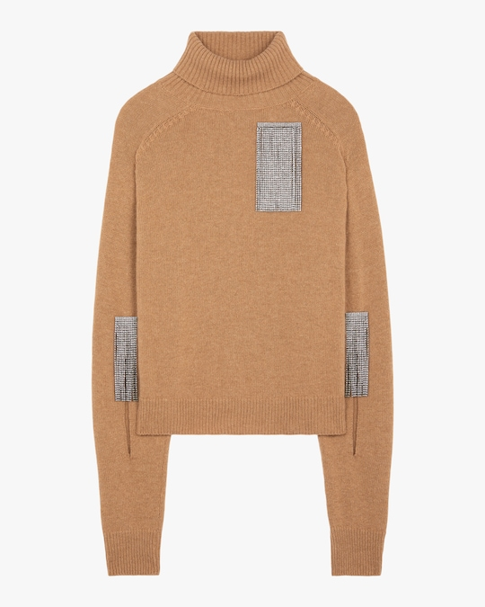 Christopher Kane Slash-Sleeve Turtleneck Sweater 0