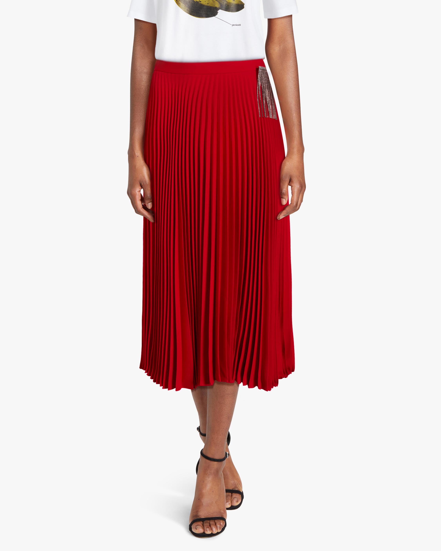 Christopher Kane Crystal Fringe Pleated Skirt 2