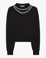 Christopher Kane Flower Cup Chain Sweater 0
