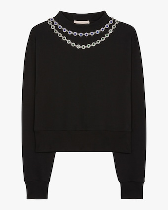 Flower Cup Chain Sweater