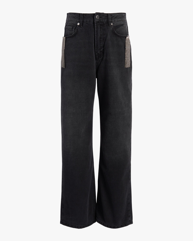 Christopher Kane Crystal Fringe Wide-Leg Jeans 1