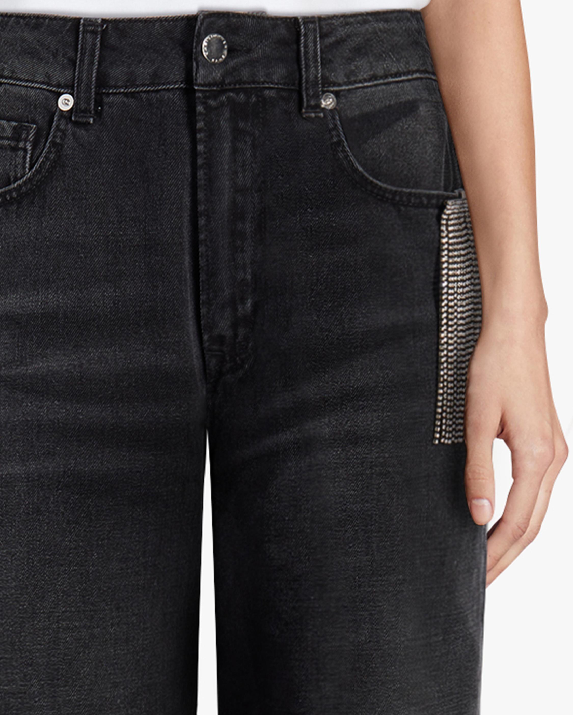 Christopher Kane Crystal Fringe Wide-Leg Jeans 3