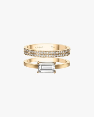 Chérut Victory Over the Sun XL Baguette Stacked Ring 1