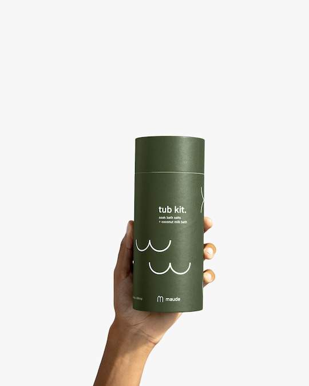 maude The Tub Kit: Soaking Salts and Coconut Milk Bath Set 1