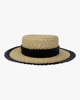 Agnes Boater Straw Hat