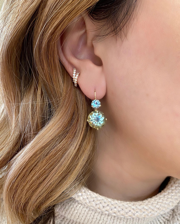 Large Double-Drop Earrings