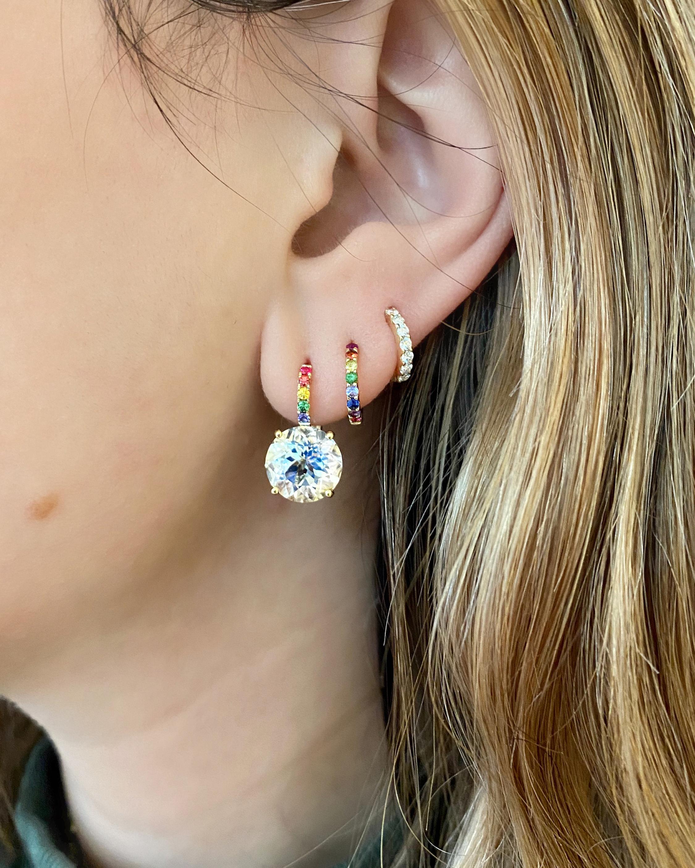 Jane Taylor Rainbow Candy Drop Earrings 1
