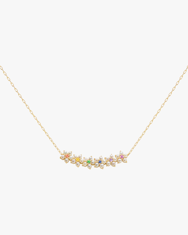 Floral Bar Necklace
