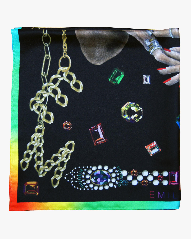 Emilia Mala Jewelry Silk Scarf 2