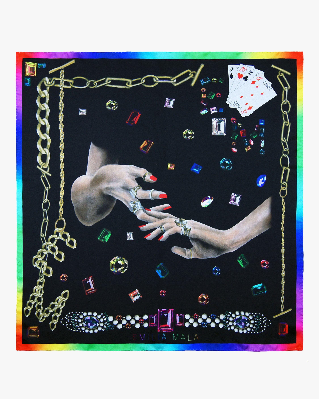 Emilia Mala Jewelry Silk Scarf 1