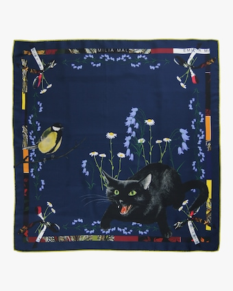 Wild Cat Silk Scarf