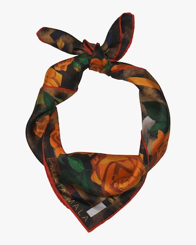Emilia Mala Bengal Rose Silk Scarf 2