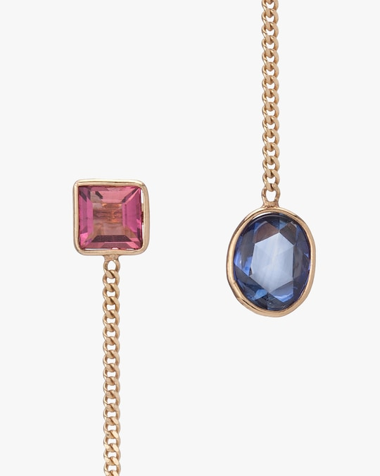 objet-a Tourmaline & Sapphire Slice Drop Earrings 1