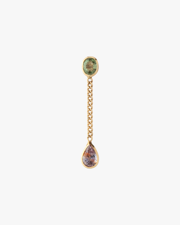objet-a Single Sapphire Teardrop Earring 1