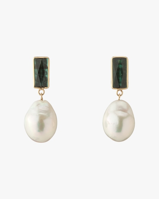 objet-a Tourmaline & Baroque Pearl Disco Earrings 0