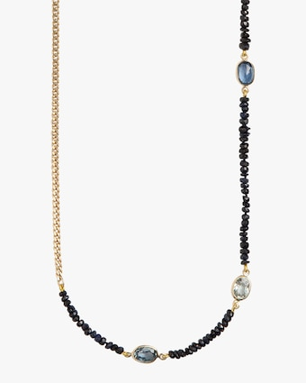 Sapphire Curb Chain Necklace