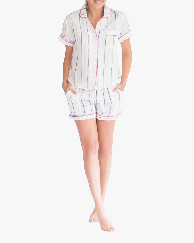 Nina Linen Short-Sleeve Pajama Set